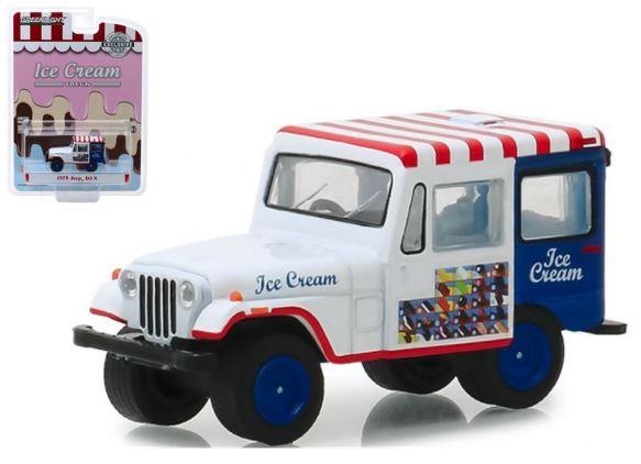 Miniatura JEEP DJ-5 - Carro de Sorvete - 1:64 - Branco / Azul / Vermelho