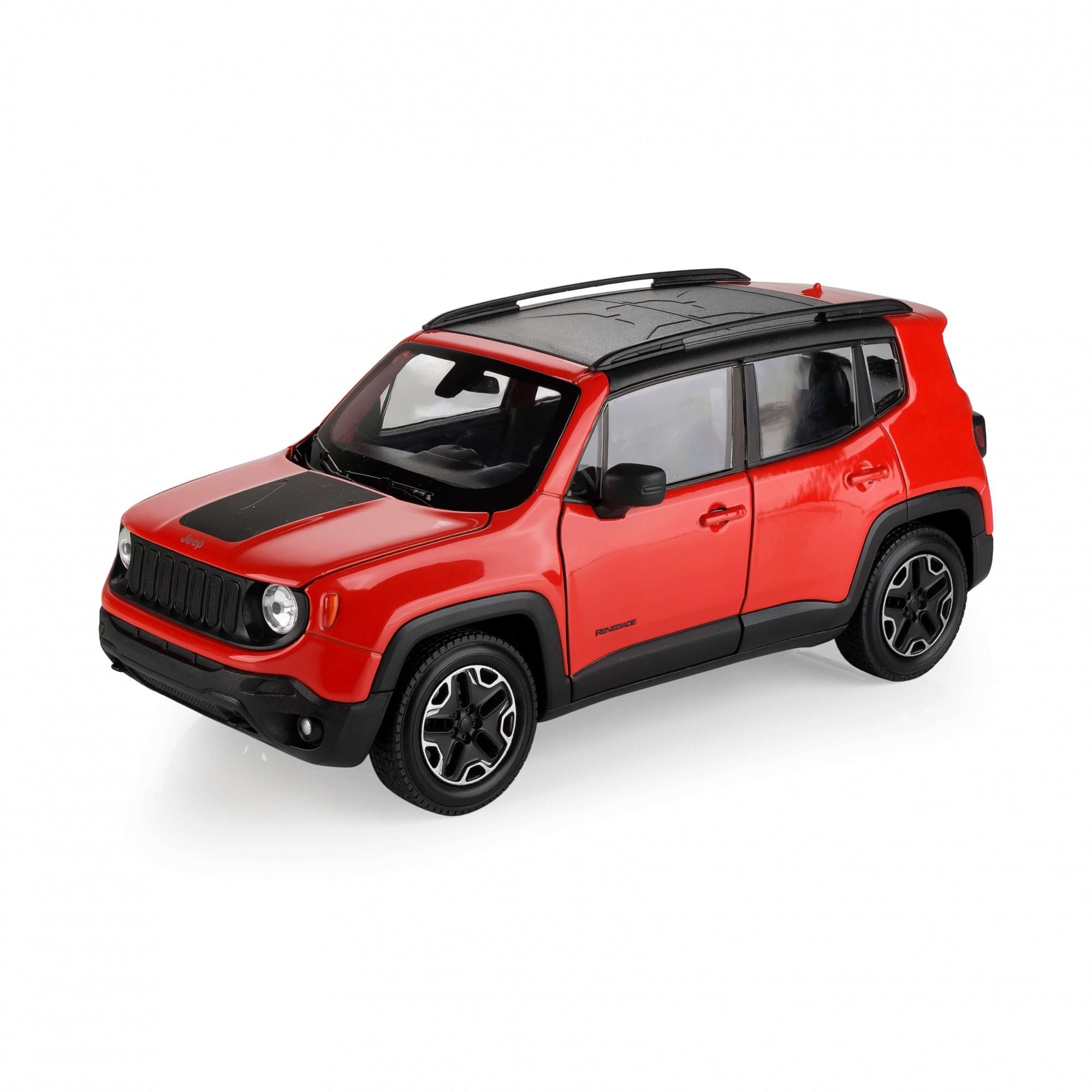 Miniatura Jeep Renegade Trailhawk 1/24 - Laranja