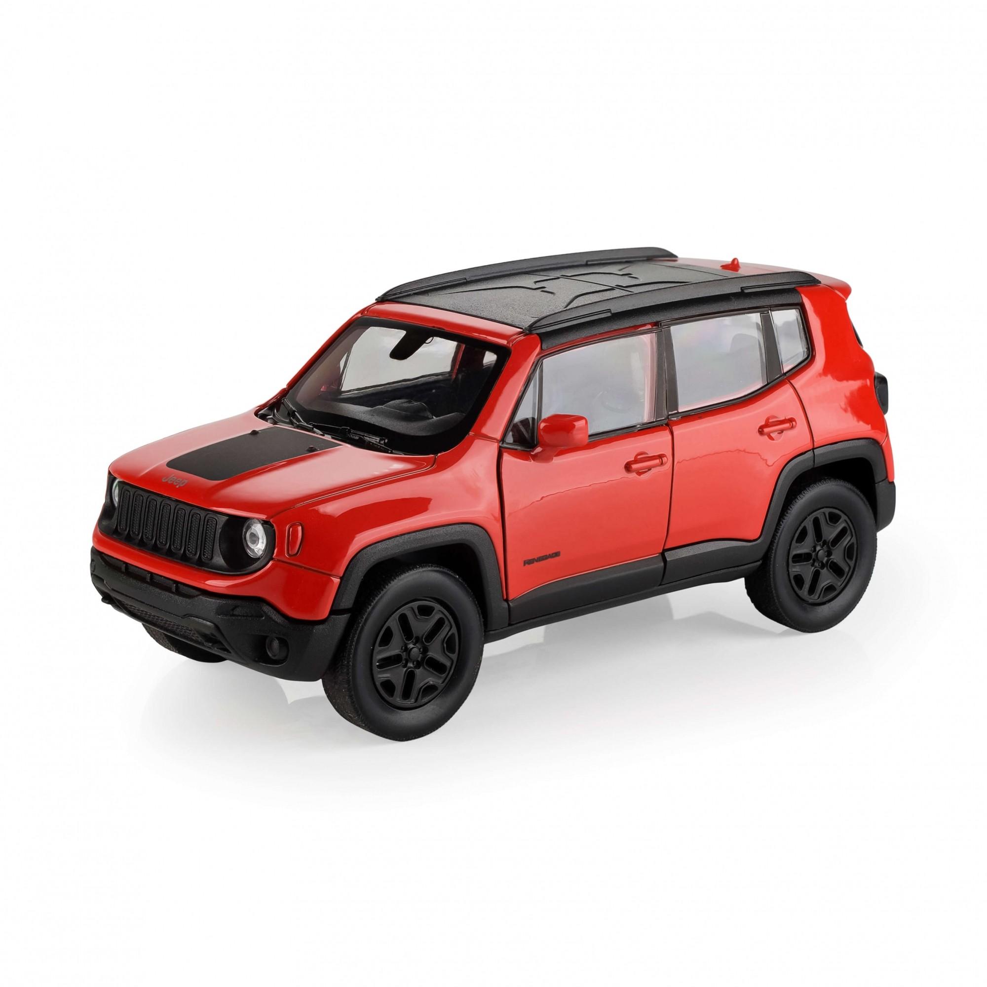Miniatura Jeep Renegade Trailhawk 1:32 Welly - Laranja