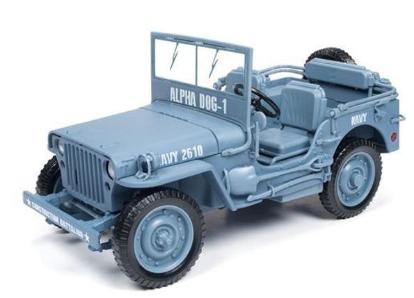 Miniatura JEEP Willys 1:18 - Azul Claro