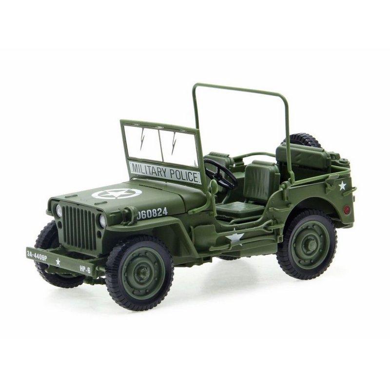 Miniatura JEEP Willys 1:18 - Verde Militar