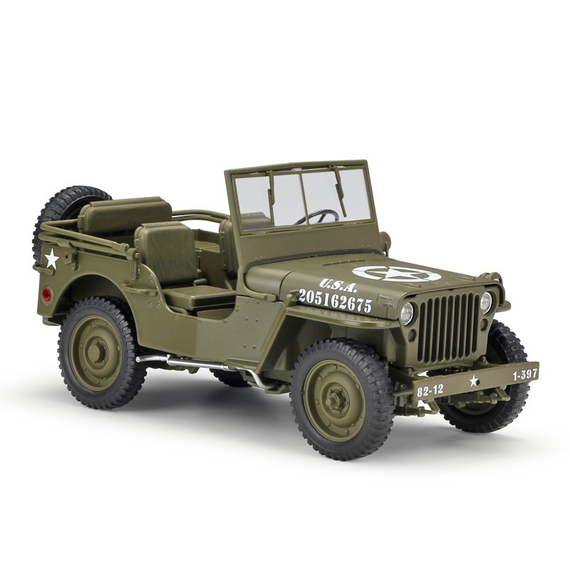 Miniatura JEEP Willys WWII 1:18 - Verde Militar