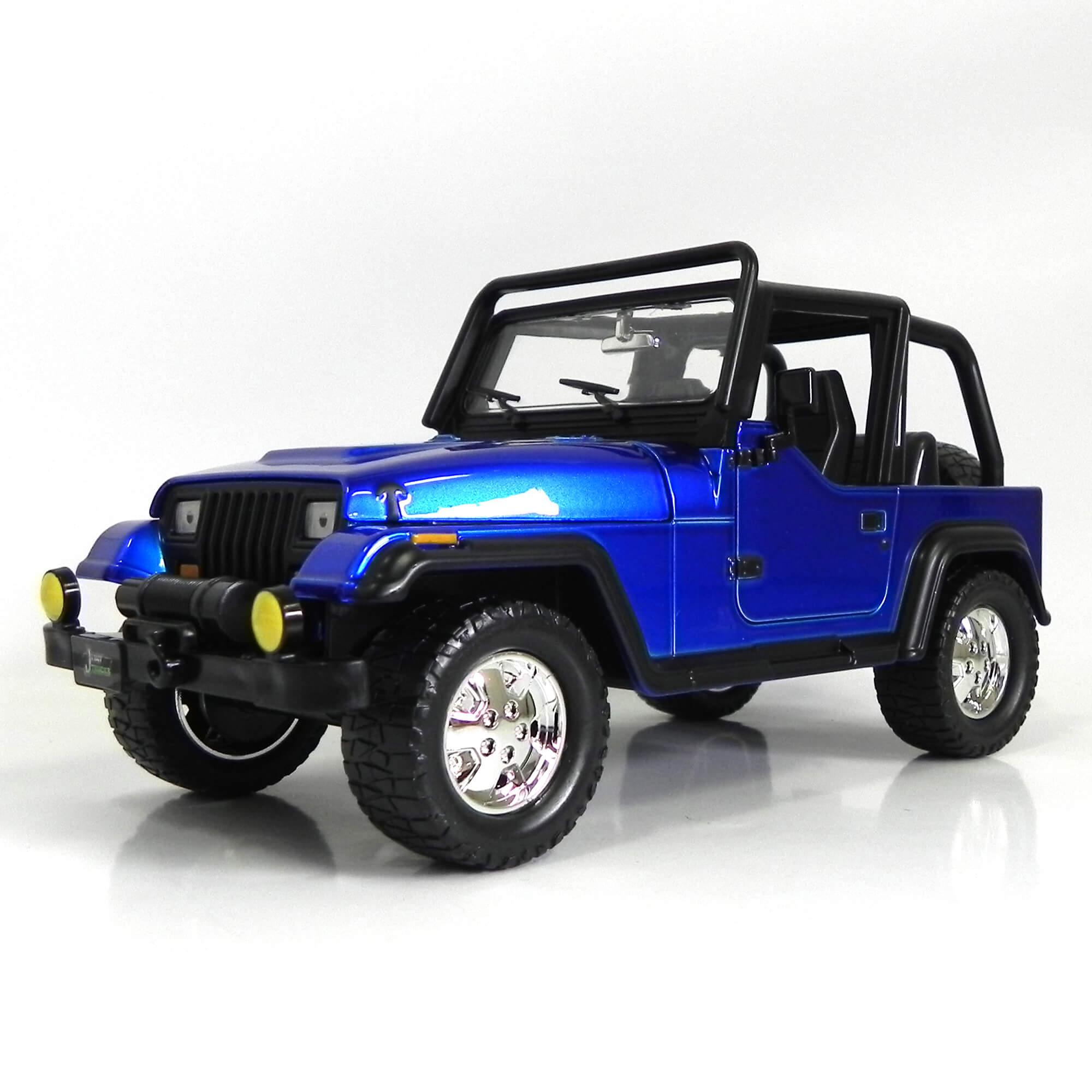 Miniatura Jeep Wrangler 1992 1:24 Jada Toys - Azul