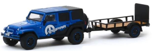 Miniatura JEEP Wrangler MOPAR - Hitch and Tow - 1:64 - Azul