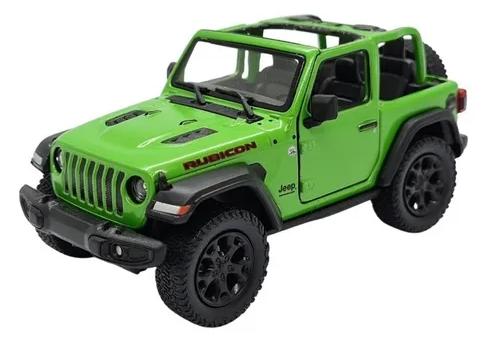 Miniatura Jeep Wrangler Rubicon 2017 1:43 Greenlight - Verde