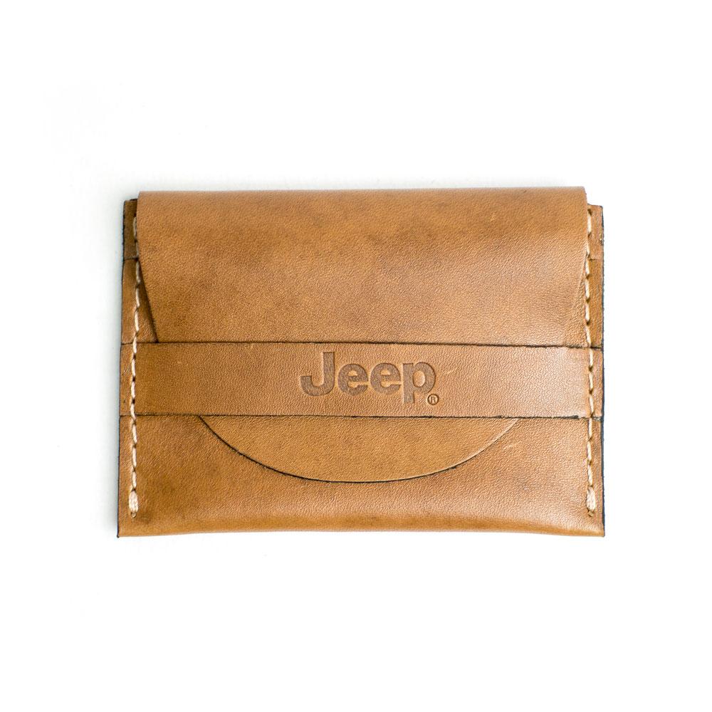 Porta Cartão de Couro com Tira JEEP