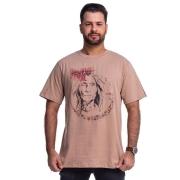 CAMISETA MASCULINA TATANKA CLOTHES BEGE TTK03