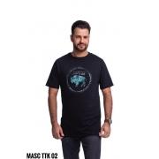 CAMISETA MASCULINA TATANKA CLOTHES PRETA TTK02