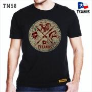 CAMISETA MASCULINA TEXANO'S PRETA TM58