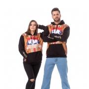 MOLETOM UNISSEX TATANKA CLOTHES PRETO E NAVAJO