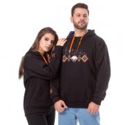 MOLETOM UNISSEX TATANKA CLOTHES PRETO MLT107