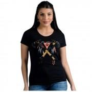 T-SHIRT FEMININA OX HORNS PRETA 6139