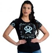 T-SHIRT FEMININA OX HORNS PRETA 6148