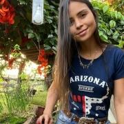 T-SHIRT FEMININA POWER COUNTRY AZUL MARINHO ARIZONA