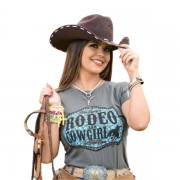 T-SHIRT FEMININA POWER COUNTRY CHUMBO RODEO