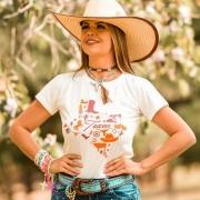 T-SHIRT FEMININA POWER COUNTRY CRU TEXAS