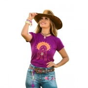 T-SHIRT FEMININA POWER COUNTRY PINK