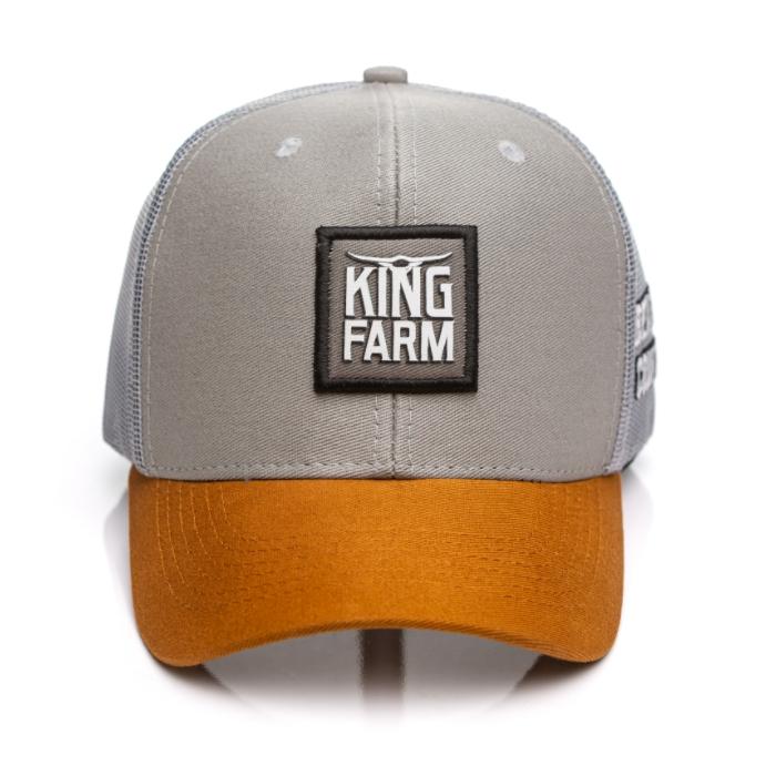 BONÉ KING FARM CINZA ABA CARAMELO 34-03