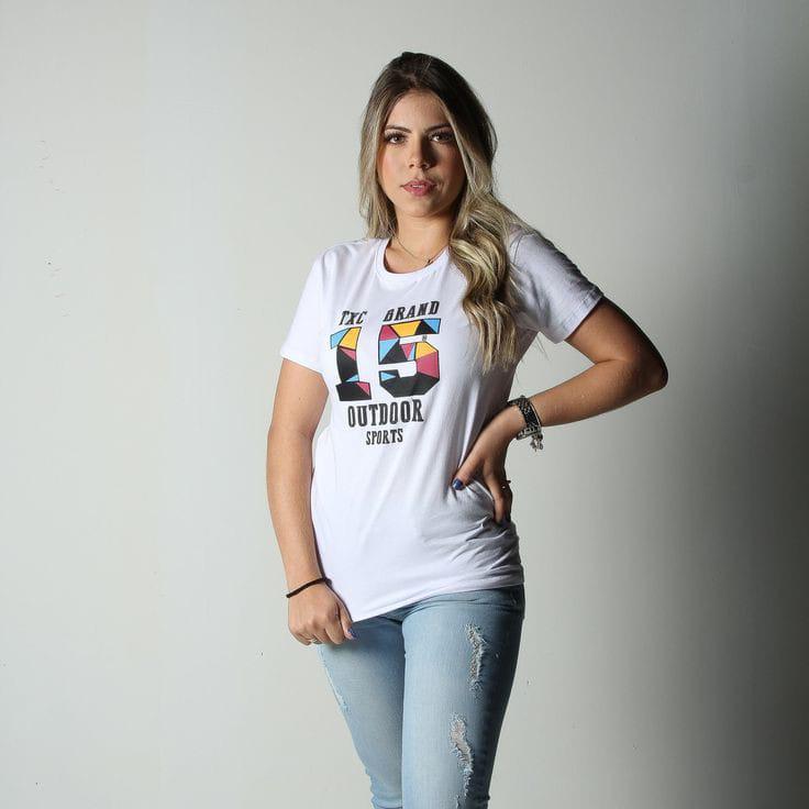 CAMISETA FEMININA TXC BRANCA OUTDOOR