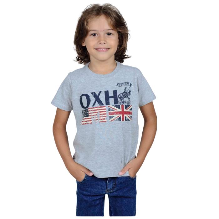 CAMISETA INFANTIL OX HORNS CINZA MESCLA 5069