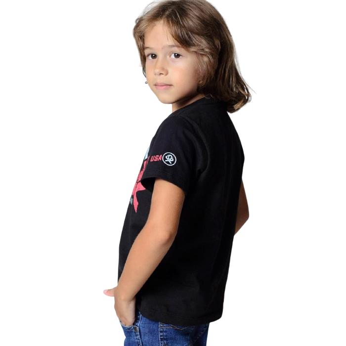 CAMISETA INFANTIL OX HORNS PRETA 5065