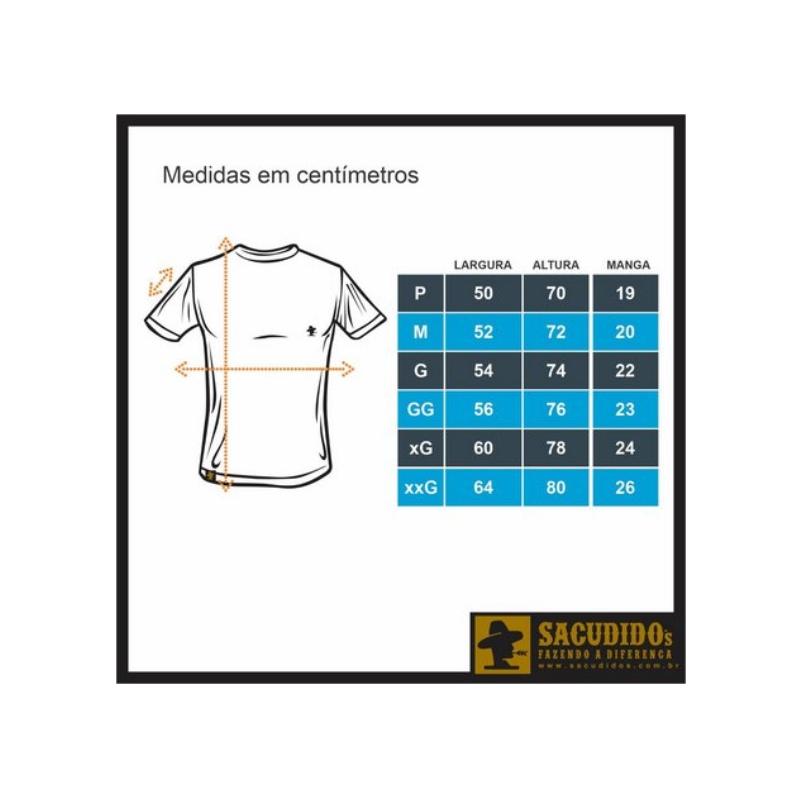 CAMISETA MASCULINA SACUDIDO'S PRETA MULADEIRO CM208