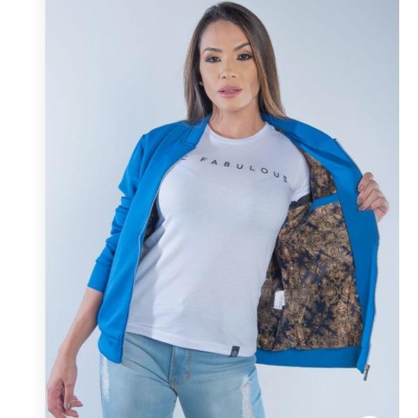 JAQUETA FEMININA TXC FORRADA AZUL ROYAL 7084