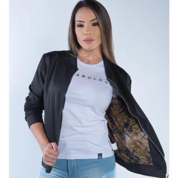 JAQUETA FEMININA TXC PRETA FORRADA 7086