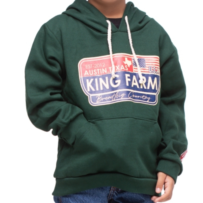 MOLETOM INFANTIL KING FARM VERDE MUSGO 218
