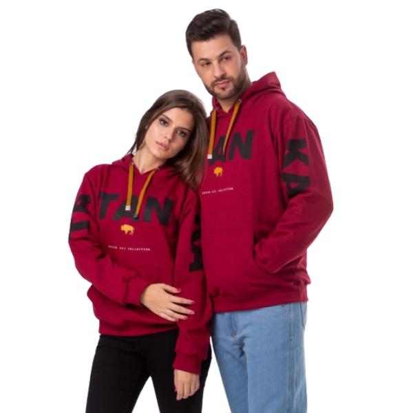 MOLETOM UNISSEX TATANKA CLOTHES VINHO MLT104