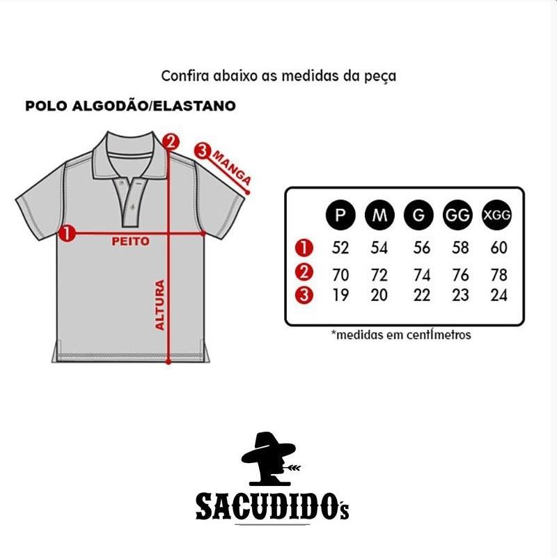 POLO MASCULINA SACUDIDO'S CINZA MESCLA PL01-30