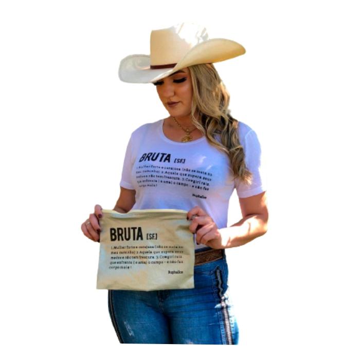 T-SHIRT FEMININA BUPHALLOS BRANCA BRUTA