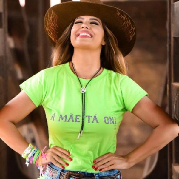 T-SHIRT FEMININA POWER COUNTRY VERDE LIMÃO