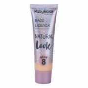 BASE LÍQUIDA NATURAL LOOK BEGE Ruby Rose-Bege 8