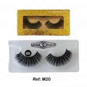 CÍLIOS POSTIÇOS MINK 3D HAIR IMPORTADO New Show -M20