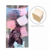 Kit Com 18 Mini Esponjas Formato Cubo Pra Maquiagem Sabrina Sato