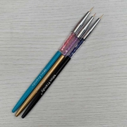 Kit Com 3 Pincéis Para Decorar Unhas Miss Frandy