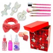 Kit de Maquiagem e Skin Care com Caixa Média para Presente 02