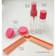 Kit Para Viagem Travel Spray Rosa