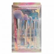 Miss Frandy Kit Com 5 Pincéis E 1 Necessaire Holográfica - Linha Diamante