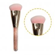 Miss Frandy Pincel Topo Reto Para Maquiagem Linha Rosé Com Cristais Pm15-1272