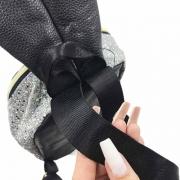 Mochila Infantil Com Glitter Coelhinho Prata