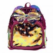 Mochila Infantil Holográfica Com Lantejoula Pink