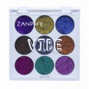 Paleta De Glitter Holográfico Linha Vibe Zanphy