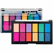 Paleta De Sombras Urban Colors 12 Cores City Girls