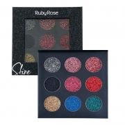 Paleta Shine Glitter Cremoso Ruby Rose - Preta