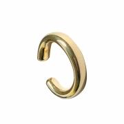 Piercing de pressão tubo liso folheado em ouro 18k