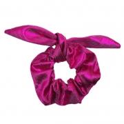 Pompom Scrunchie Pink Metálico