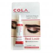 Real Love Cola À Prova D'água Para Cílios Postiços Branca