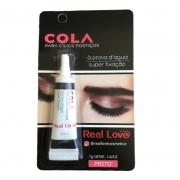Real Love Cola À Prova D'água Para Cílios Postiços Preta